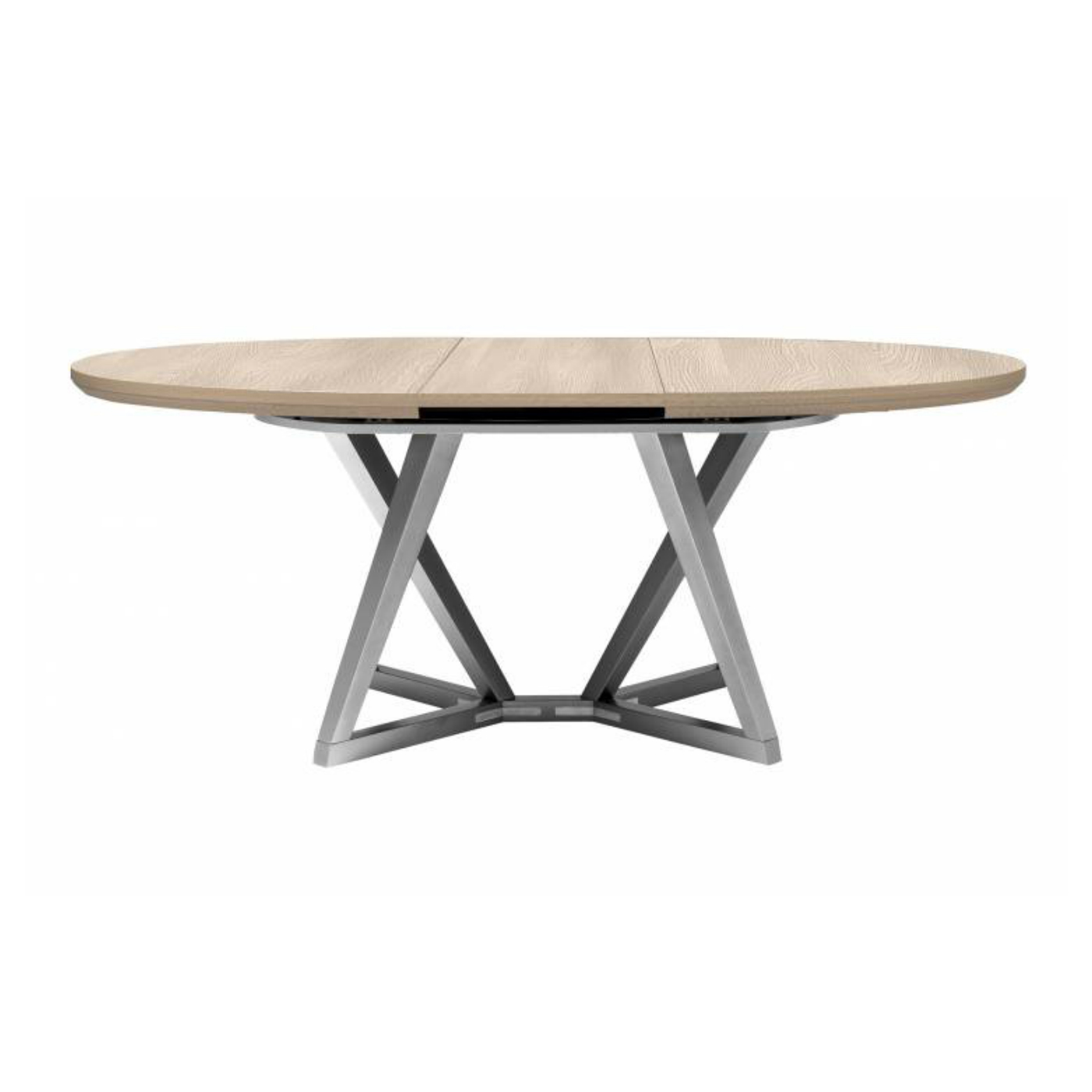 Gx Setis Oval Extendable Dining Table Natural Oak Top